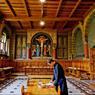 Réfectoire de l'abbaye bénédictine Saint-Martin de Beuron. Une congrégation qui a beaucoup contribué à ranimer la vie monastique en Allemagne.