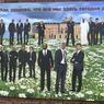 L'oeuvre de l'artiste Alexei Sergienko en l'honneur du sommet. Elle représente les dirigeants du G20 avec pour titre: «Quelle joie d'être tous réunis aujourd'hui!»