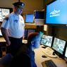 Centre de contrôle de la plus grande escouade privée de sécurité, chargée de la sécurité d'un bâtiment aux Etats-Unis.