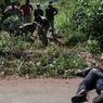 Un cadavre gisant au bord de la route à la sortie nord de Bangui.