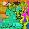 Cet autoportrait numérique s'intitule sobrement Andy2, 1985. On y distingue le visage d'Andy Warhol au-dessus de sa signature à l'ordinateur.