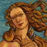 Ce visage de la Vénus peint par Botticelli est tout à fait reconnaissable dans sa version informatique, malgré le troisième œil dont l'artiste a doté la divinité.