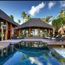 La plus grande des villas de l'hôtel: 3 chambres, une terrasse et une piscine privée.