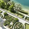 Ce lieu d'une rare beauté dévoile des jardins suspendus dont les buis sont savamment taillés.