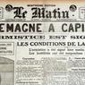 «Le vainqueur, le voilà!» peut-on lire en légende de la photo d'un poilu français publiée en une du journal Le Matin, le 12 novembre 1918.