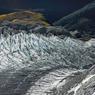 Les Alpes néo-zélandaises comptent plus de 300 glaciers. Ici, le glacier du parc national du mont Aspiring.