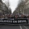 Une délégation de la police a participé à cette manifestation historique en hommage aux 3 policiers tués pendant les attentats de Paris.