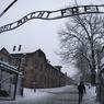 L'entrée d'Auschwitz I avec l'inscription Arbeit macht frei (le travail rend libre)