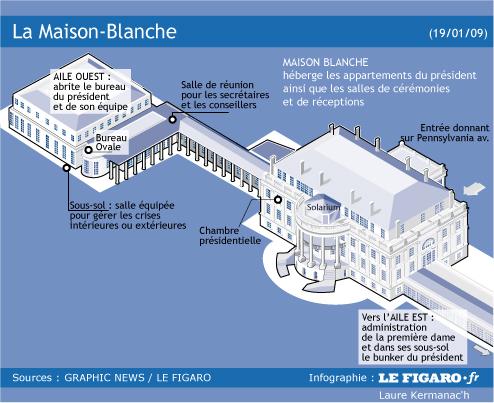 La maison blanche 132 pi ces 90 domestiques for Architecture de la maison blanche