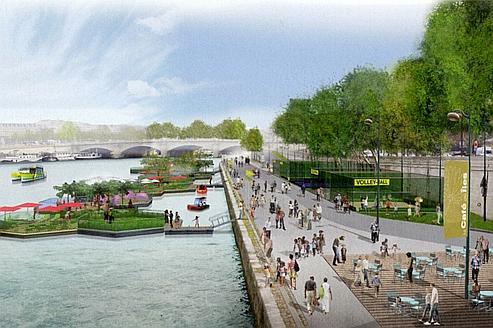 Le d routant visage des futurs quais rive gauche for Jardin 5e paris