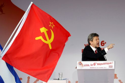 Image result for mélenchon communiste