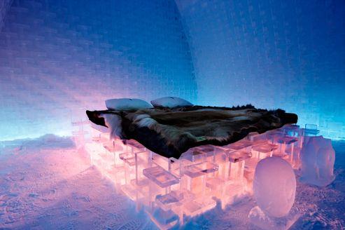 de 255 810 euros la nuit dans un igloo en laponie. Black Bedroom Furniture Sets. Home Design Ideas