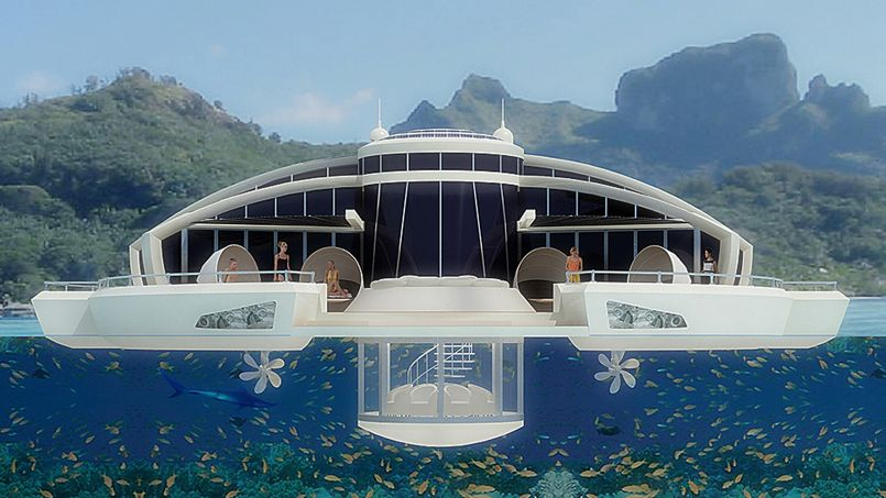 un futur h tel flottant aux maldives. Black Bedroom Furniture Sets. Home Design Ideas
