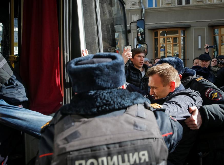 L'opposant Navalny et 700 manifestants interpellés — Russie