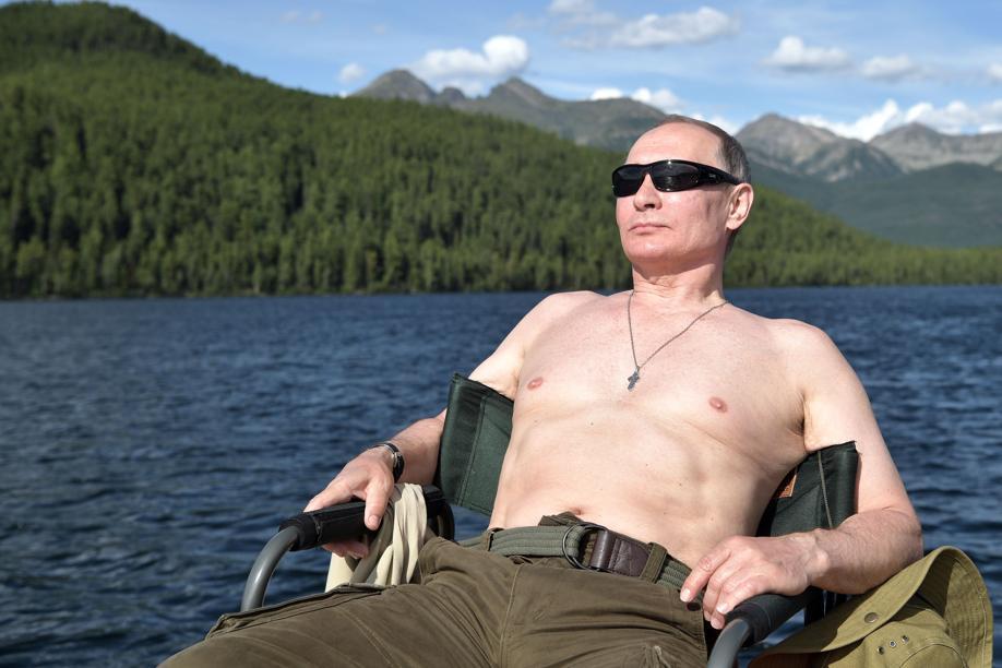 Pêche sous-marine, quad et rafting : les vacances de Vladimir Poutine