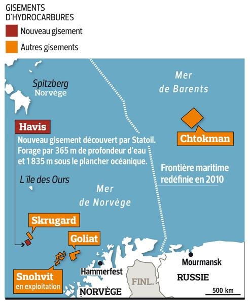 Découverte importante de pétrole dans l'Arctique