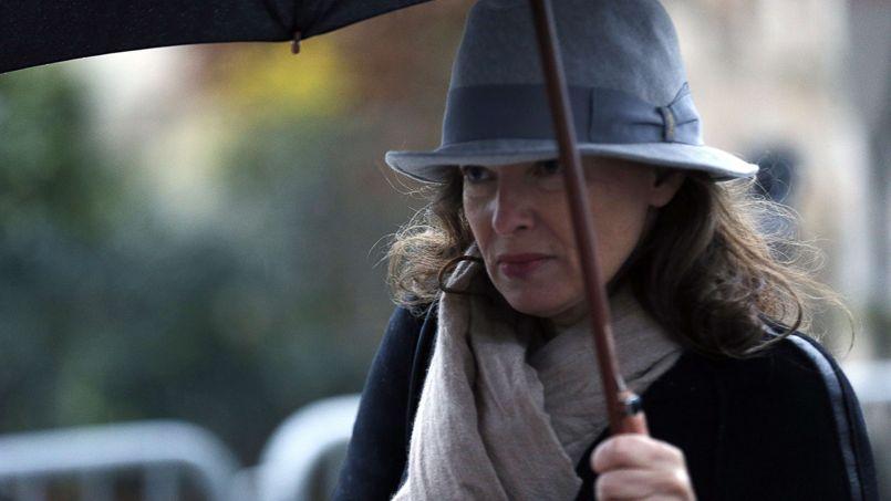 La journaliste Valérie Trierweiler est également venue rendre un dernier hommage à son collègue de Paris Match.