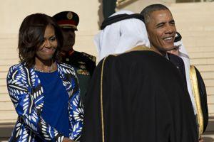 Michelle Obama rencontre le roi Salman, à Riyad
