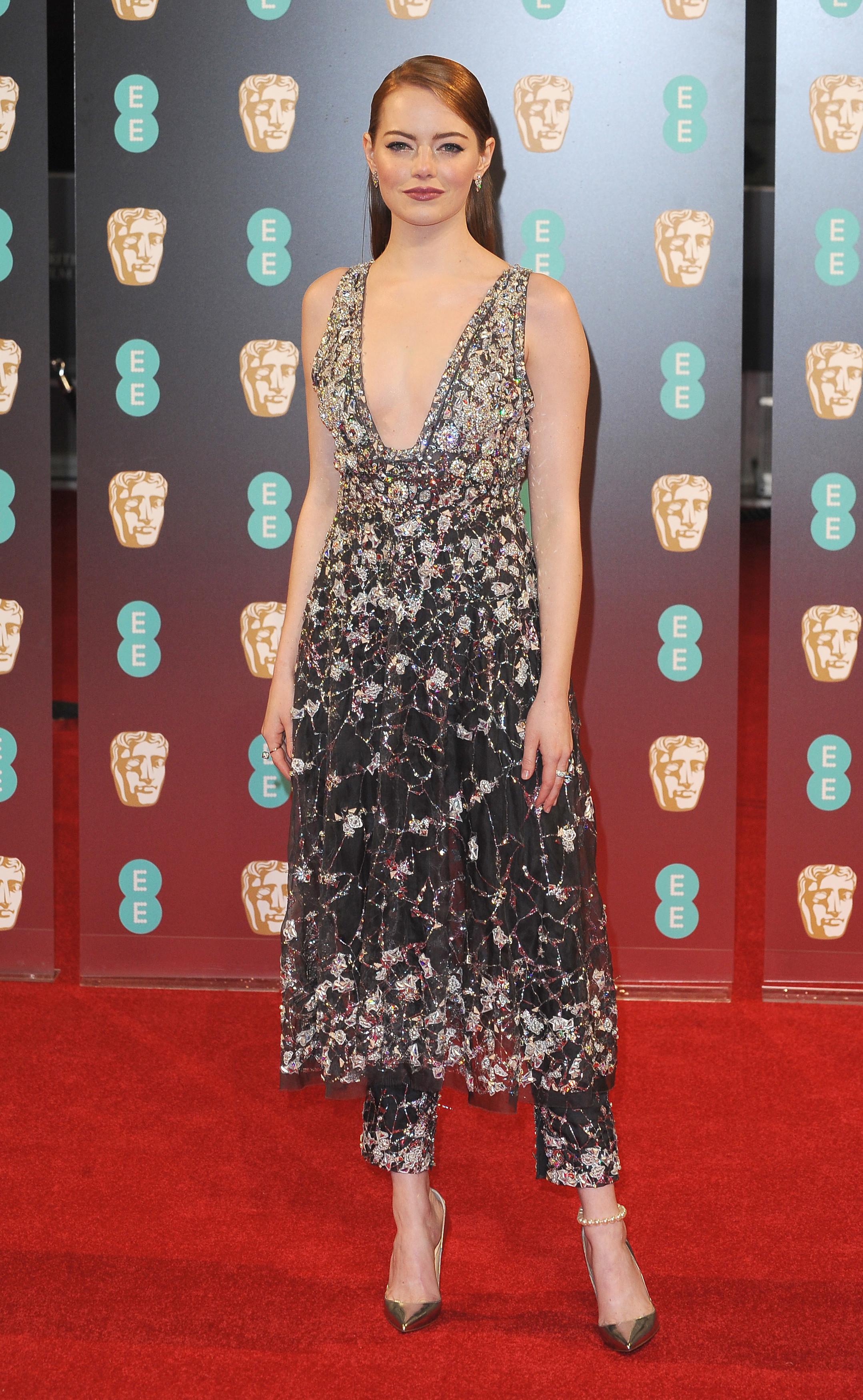 Les plus belles tenues des BAFTA 2017 - Emma Stone