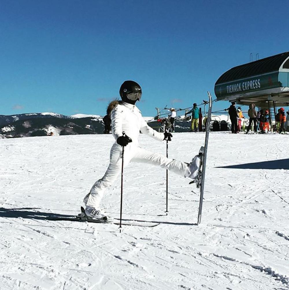 Les stars au ski