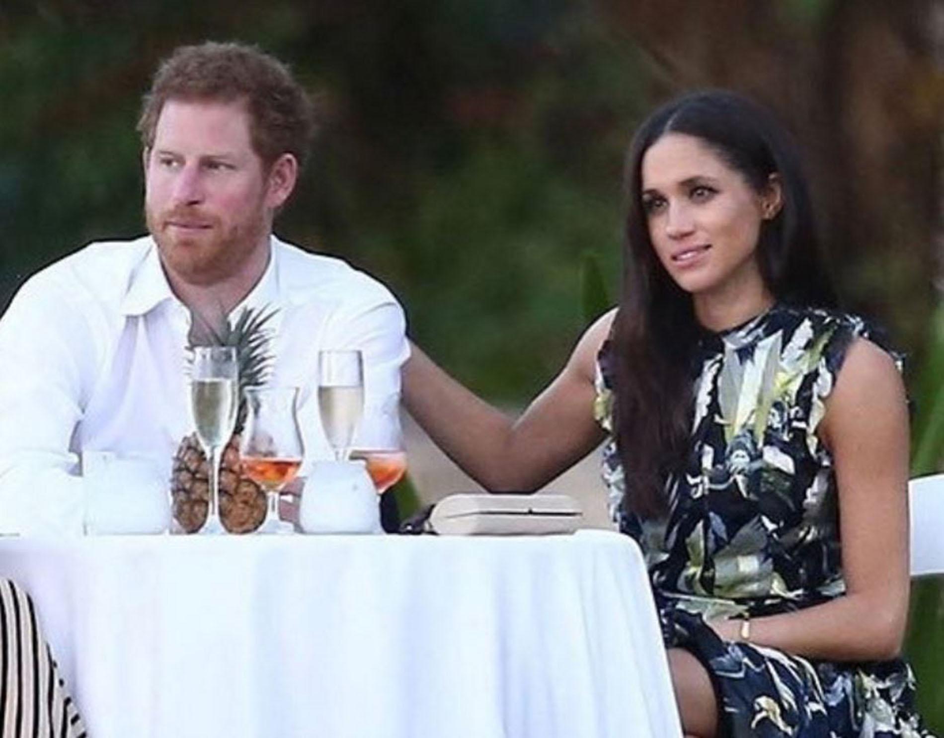 Le prince Harry avec sa petite amie Meghan Markle
