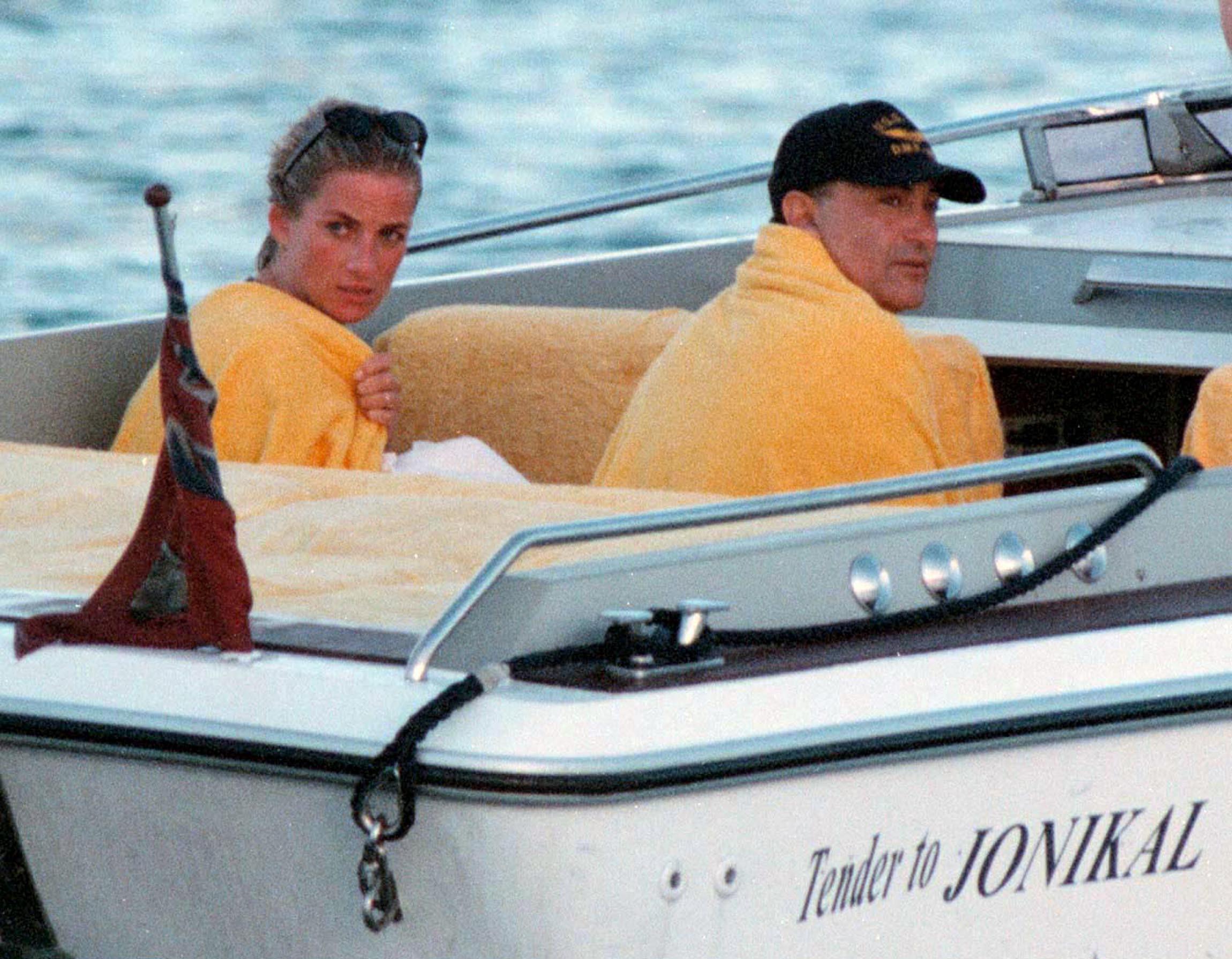 Lady Diana et Dodi Al-Fayed en Sardaigne