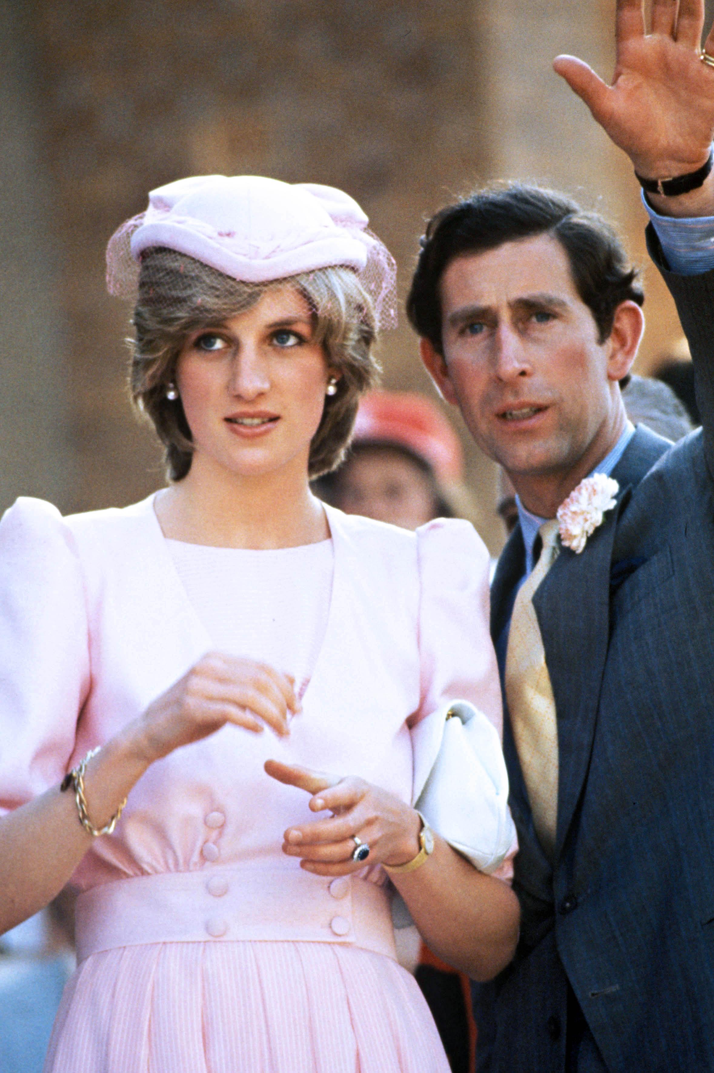 Lady Diana et le prince Charles dans les années 1980