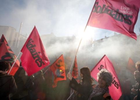 De mémoire de policier, le cortège de Nice était le plus important depuis la manifestation contre Le Pen en 2002.