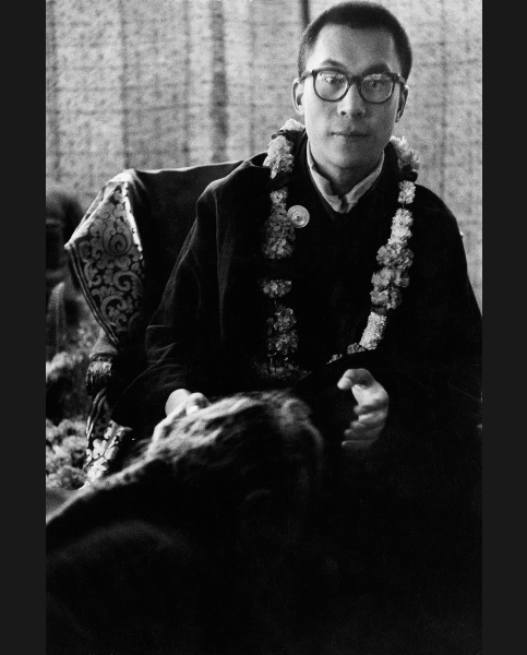 Le dalaï-lama, Calcutta 1956