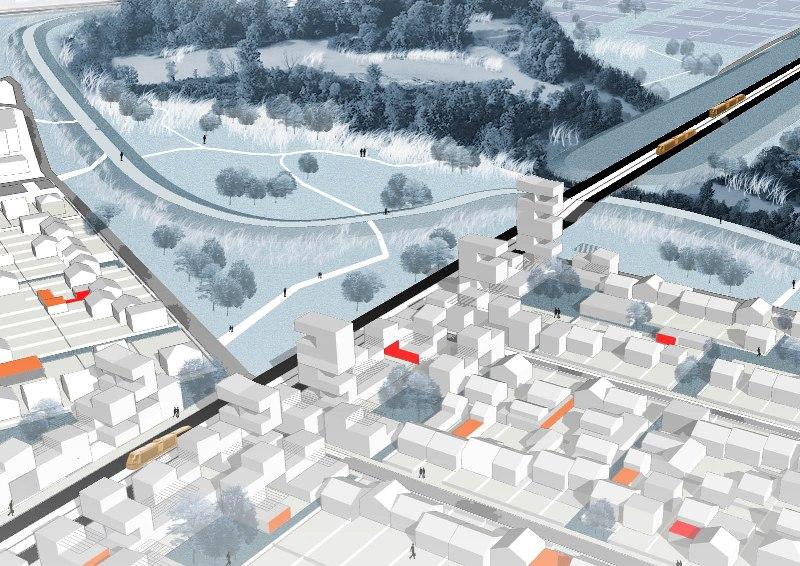 Studio O9 : Une ville poreuse. Les Italiens Bernardo Secchi et Paola Vigano ont dessiné la topologie d'une ville «poreuse» qui donne de «l'espace à l'eau» et qui multiplie «les échanges biologiques». Leur ville se transforme par stratification et doit adapter ses tissus au défi énergétique. Le projet se penche aussi sur les transports : «La maille de l'espace à vitesse moyenne des tramways et des RER peut modifier radicalement la façon de pratiquer et d'habiter le Grand Paris. Quant aux TGV, ils passeront par Paris intra-muros pour éviter la rupture de charge qui affaiblit l'efficacité de la grande vitesse.»