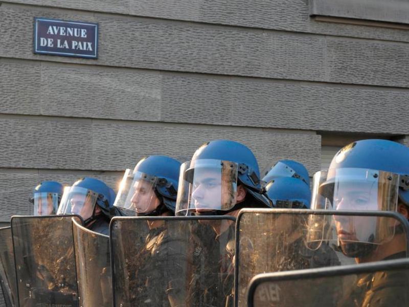 Les forces de l'ordre déployées à Strasbourg.