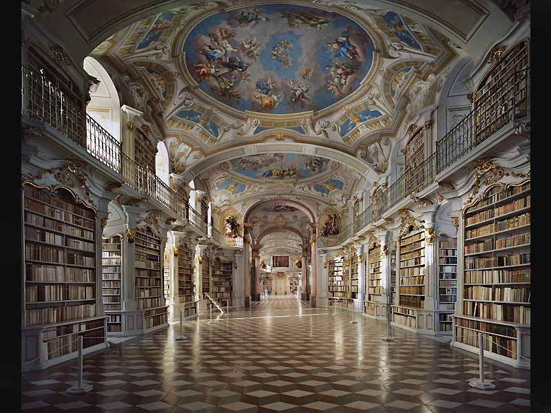 Bibliothèque de l'Abbaye d'Admont, Autriche.