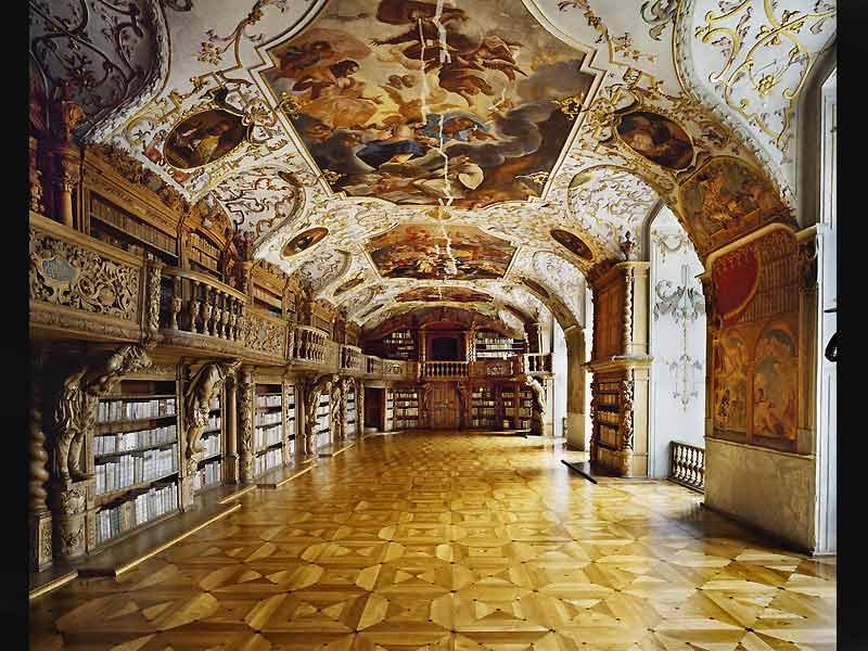 Bibliothèque de l'Abbaye de Waldassen, Bavière, Allemagne.