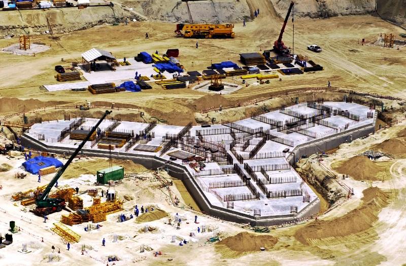 Aperçu des fondations en mars 2005.
