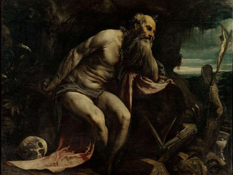 Saint Jérôme pénitent - Jacopo Bassano (Vers 1560 -1565) 119 x 154 cm