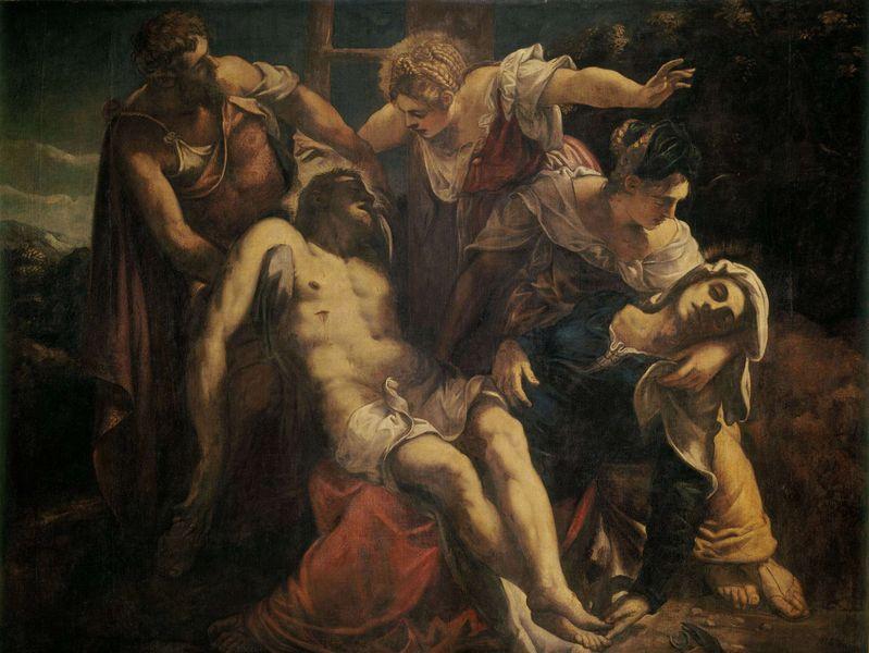 La déposition du Christ - Tintoret (1555 - 1560) 227 x 214 cm
