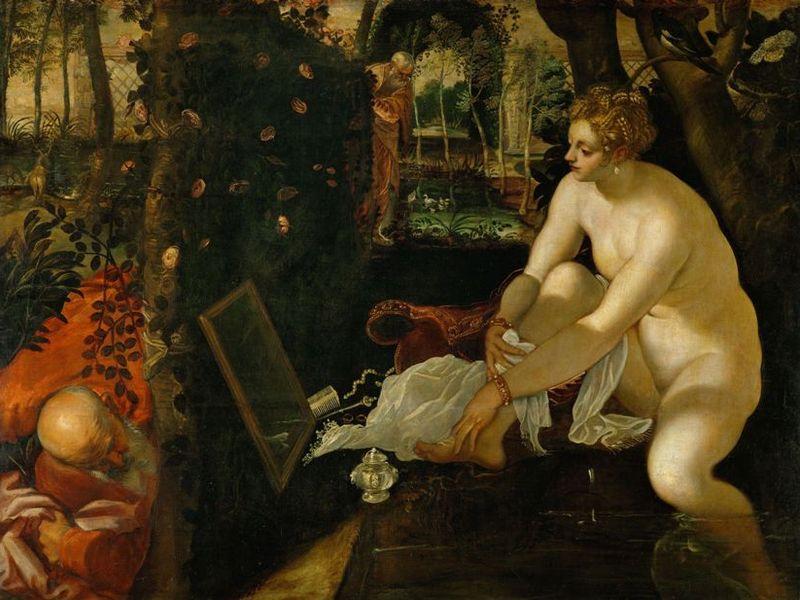 Suzanne et les vieillards - Tintoret (Vers 1555 - 1556) 146 x 193,6 cm