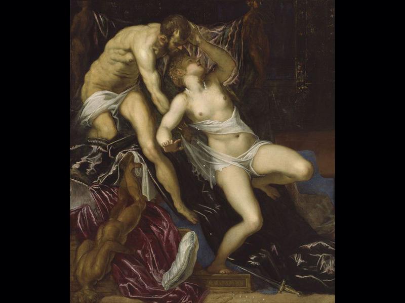 Les trois peintres vénitiens ont peint de nombreux couples, en particulier Tarquin et Lucrèce, représentation phare de la Renaissance.Tarquin et Lucrèce - Tintoret (Vers 1580) 175 x 151,5 cm