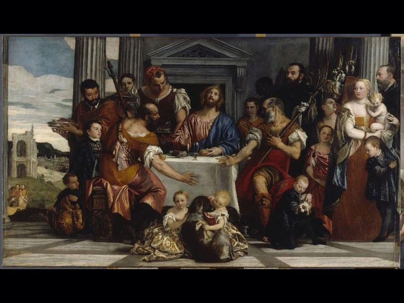 Les Pèlerins d'Emmaüs - Véronèse (Vers 1555 - 1560) 242 x 416 cm
