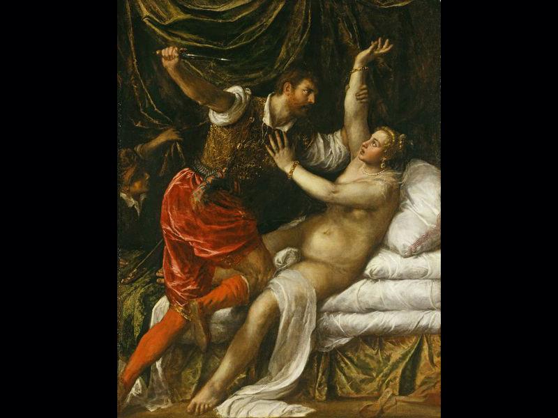 Tarquin et Lucrèce - Titien (Vers 1568-1571) 189 x 145 cm