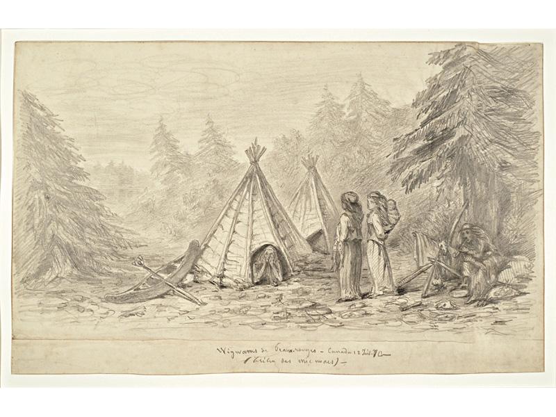 Wigwams de Peaux-rouges – Canada 12 Juil. 70 – / (tribu des mic macs). Halifax, Nouvelle-Écosse.