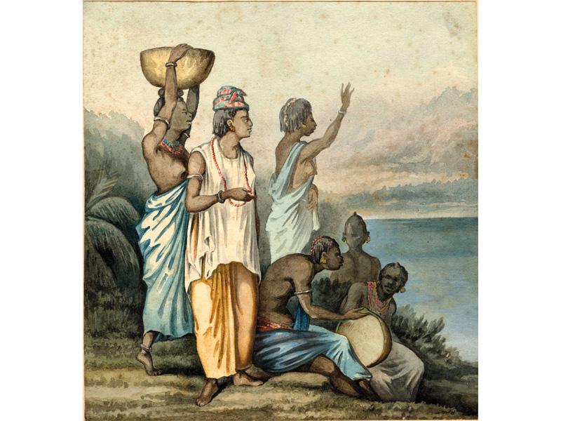 Femmes de Gorée – (Juillet 1872) » [lire : Juin 1871]. Aquarelle et gouache.