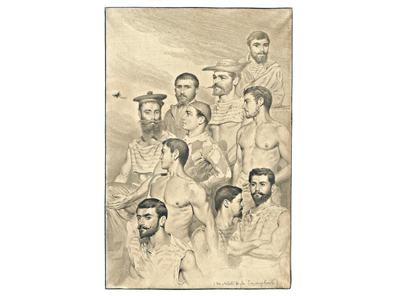 "Matelots de la ""Triomphante.  Mer de Chine, novembre 1885."
