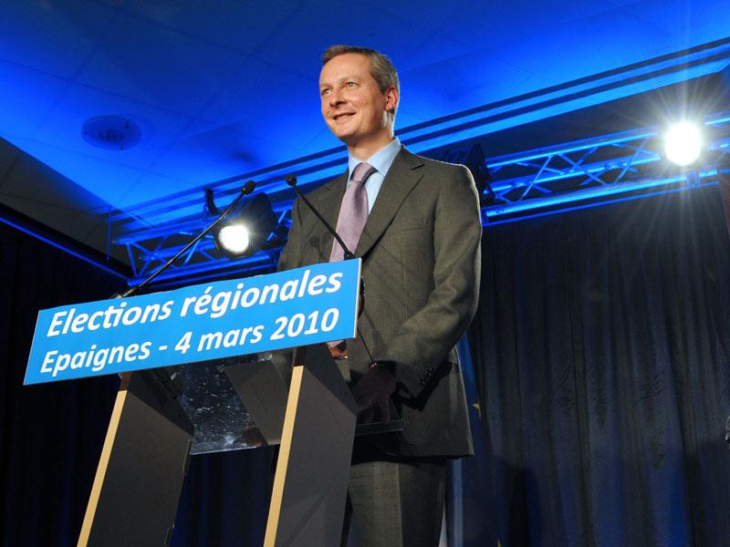 Bruno Le Maire. Engagé dans une triangulaire délicate en Haute-Normandie face à la gauche (55,1%) et au FN (14,2%), le ministre de l'Agriculture (30,7%) n'a pas réussi à améliorer le score de la droite par rapport 2004 (32,72%), arrivant très nettement derrière le président de région sortant.