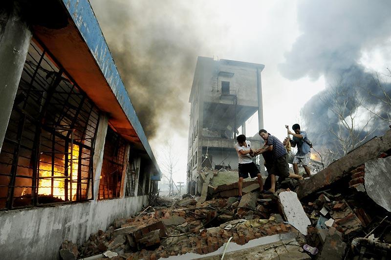 Accident. Mercredi 28 juillet, à Nankin dans l'est de la Chine, douze personnes ont été tuées et plus de 300 blessées, dans l'explosion d'une canalisation acheminant du gaz éthylène.