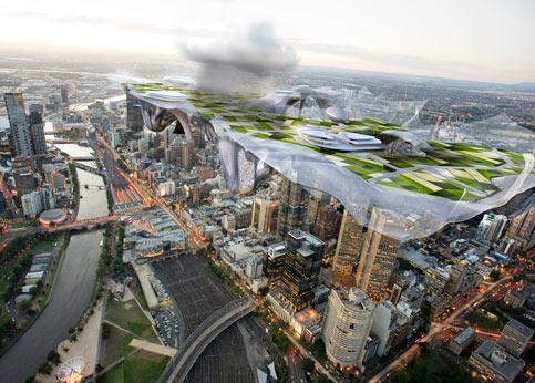 «Multiplicity» de John Wardle et Stefano Boscutti, en Australie. Dans leur film en 3D les architectes australiens donnent une vision des métropoles en 2050 dans un pays où 93% de la population vit dans les villes. Multiplicity donne des pistes de réponses aux nouveaux enjeux planétaires, comme le réchauffement climatique et le développement de la population.