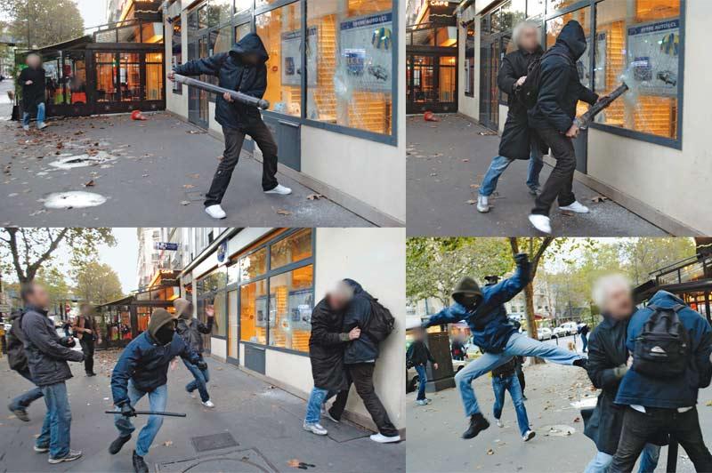 LA LOI DES CASSEURS. Il a voulu s'interposer. Faire un geste quand soudain la manifestation a débordé sous la pression des casseurs. Travaille-t-il dans cette banque? Est-il policier? Syndicaliste? Ou un simple citoyen qui n'en peut plus de la violence gratuite, qui empoisonne chaque fois davantage les cortèges ? Sous les yeux médusés des passants et des manifestants, le 16 octobre dernier près de la place de la Bastille à Paris, l'homme a fini par céder sous le nombre, tabassé à coups de barre de fer. Un peu partout en France, en marge des manifestations contre la réforme des retraites, de véritables scènes de pillages et de guérilla urbaine ont terni une nouvelle fois la forte mobilisation des lycéens.