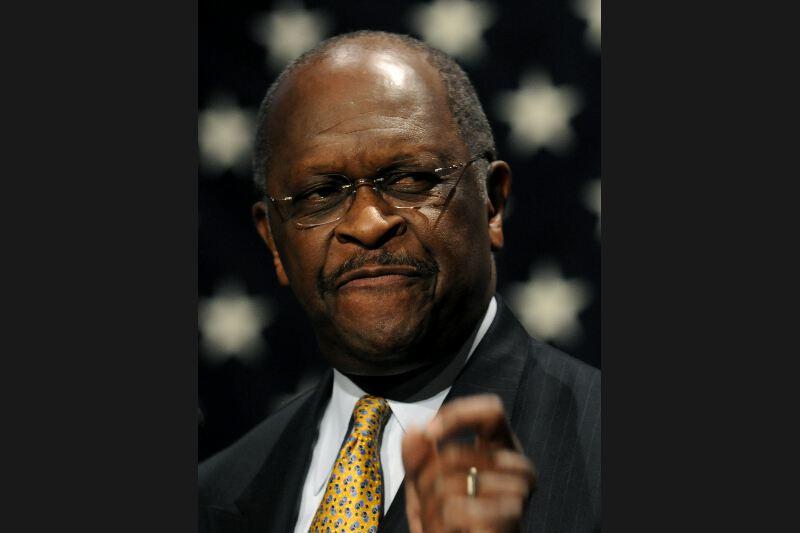 RETIRÉ - Nouvel arrivé en politique, Herman Cain avait les faveurs des conservateurs du Tea Party. Mais l'homme d'affaires qui a réussi dans le business des pizzas a mis un terme à sa campagne en décembre après avoir été accusé d'harcèlement sexuel par plusieurs femmes.