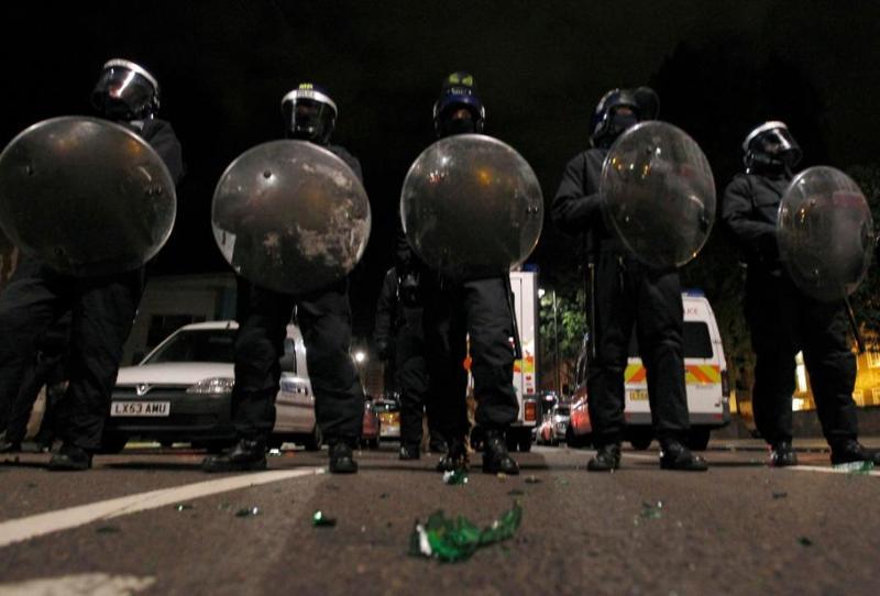 La police, qui a bouclé plusieurs rues de Tottenham,