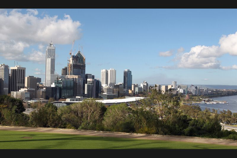 8 - Perth, sur la côte occidentale australienne...